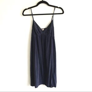 ARITZIA Wilfred Silk Cami Slip Dress Navy XS